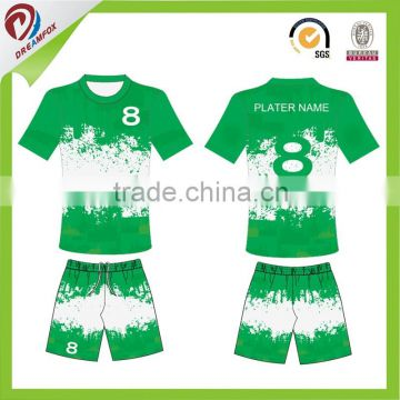 Blue Red Green Yellow Soccer Jersey Sublimation Jersey Thailand