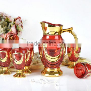 new hot sale glass gold drinkware water jug set                                                                         Quality Choice