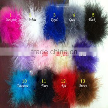 New Arrival Decoration Hair Accessories -Feather Marabou Puff flower -Maomao ball ornament for dresses
