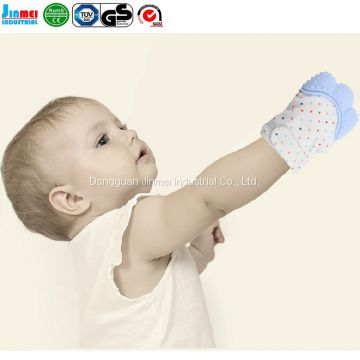 China factory Wearable New Arrival Glove Baby Teether Mittens For Babies Teething JM-BT168L1