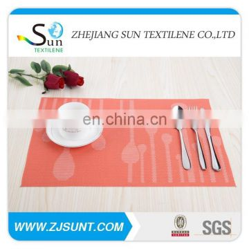 made in china free sample placemat with PVC