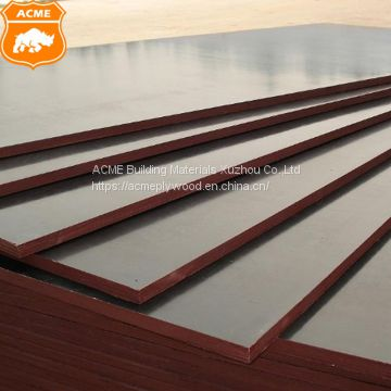 High Quality 18mm Hardwood Dynea Black Film Faced Plywood for Construction
