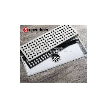 304 stainless steel washing machine kitchen outdoor toilet insert tile drain grille square  linear grid  shower floor drain