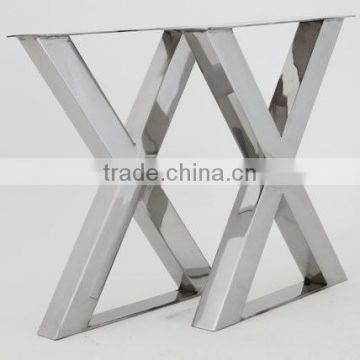 Import Furniture From China X Shape Stainless Steel Table Leg For - Stainless steel table legs suppliers