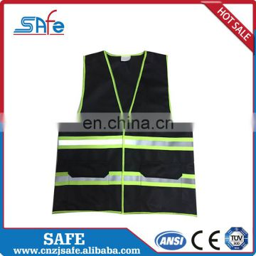 CE safety reflective fabric mesh stretch vest