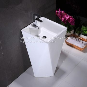 Chinese manufacturer 2018 good sale indoor bathroom colorful ceramic luxury pedestal basin sinks