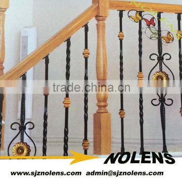 Simple Interior Cast Iron Railings Stairing Railing Wrought Hand