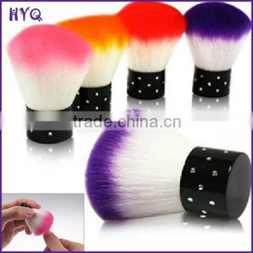 9 colors Nail Dust Brush comfortable useful round nail cleaning brush face makeup brush