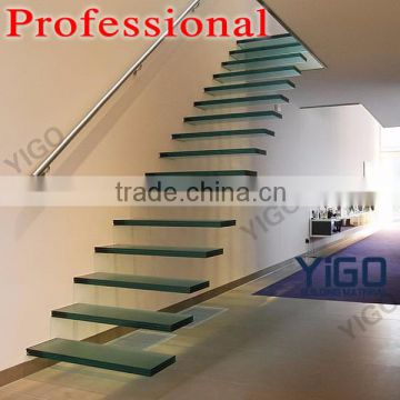 Floating Gl Stair System Iron Stairs