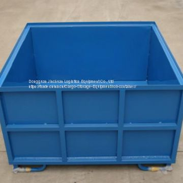 Industrial Rigid Pallet Stacking Coated Steel Storage Boxes