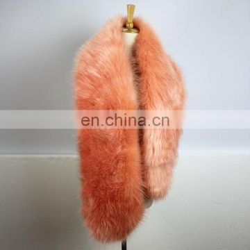 Top grade dyed color fox fur collar scarf for lady winter fashion