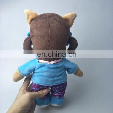cute plush animal toy stuffed plush dog toys with sportswear