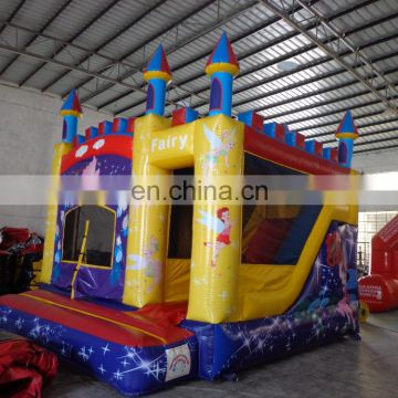 2017 Cheer Amusement children indoor inflatable combo house,castle / slide combo,Popular Fairy Inflatable Combo