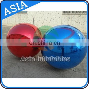 Inflatable Mirror Ball / Silver Reflective Ball Inflatable Stainless Steel Spheres For Sale