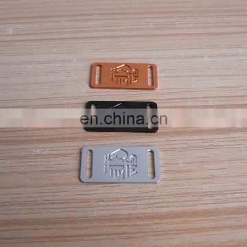 Engraved Logo Aluminum Colorful Shoelace Tags
