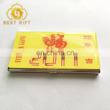 2017 Hot Sell Pocket Epoxy Logo Custom Business Card Holder