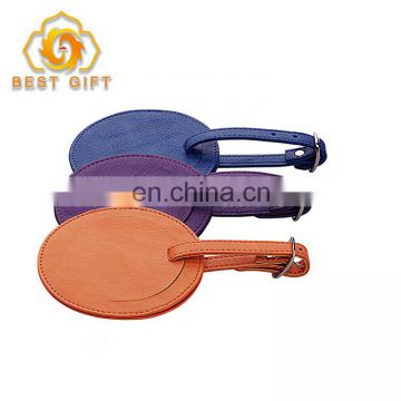 Custom Round Shape PU Luggage Tag