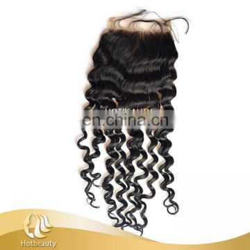 Free parting lace closure silk invisible part closure