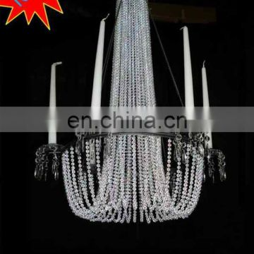 Large Acrylic Beaded Hanging Chandelier