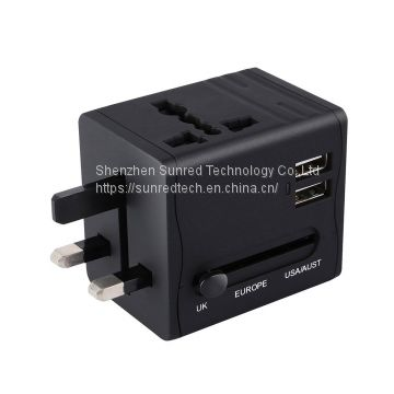 Hot Sell UK US EU AUS Multi Plugs Universal Travel Adapter with USB