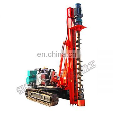 Crawler type electric spiral/screw pile driver