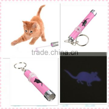 2015 New Arrival Funny Cats Pets Toy LED Laser Lazer Pointer Pen Light With Bright Mouse Animation Household