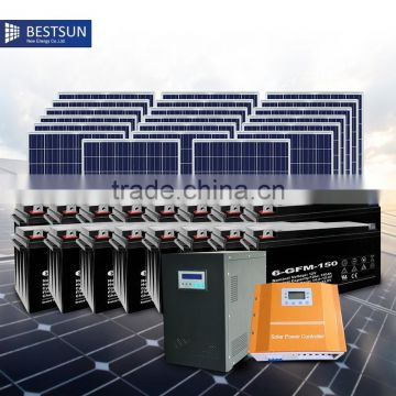 Energy Saving High Quality China Supplier Best Sun BFS-5kw solar system price with LCD display and DC/AC output