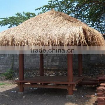 Pavilion PVC material high quality vocation synthetic thatch roof made in china