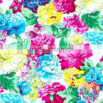 New Arrival Black White Florals Girls Cresses Cotton Foral Fabric