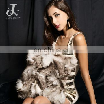Wholesale Customed Blue Fox Foot Fur Natural Color Decorative Pillow Cushion Covers