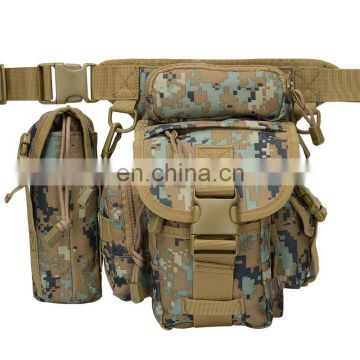 promotional camo fan color camouflage fabric bum leg bag for gift