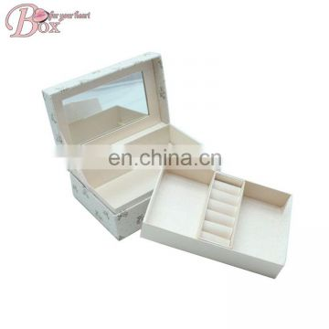 Bulk Buy Mirror Decorative White for Flowers Jewelry Ring Box