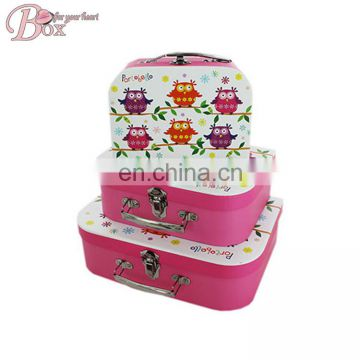 Custom Fancy Cardboard Suitcase for Children Gift Packaging