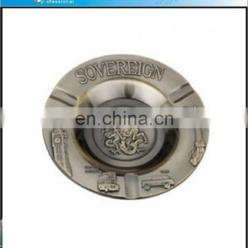 Tourist collectible SOVEREIGN ashtray custom for promotional gifts metal ashtray