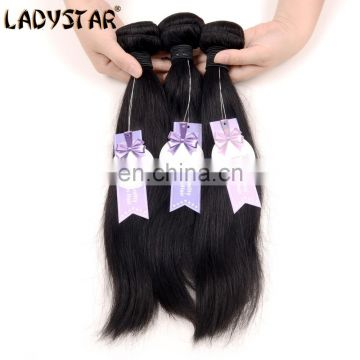 hot sell straight wave hair bundles with lace closure 3 pics straight wave hair bundles and 1 pic straight lace closure