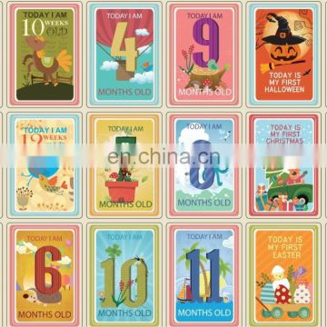 36pcs baby milestone cards,Landmark Moments Baby Cards for baby shower gift baby first year memory new born baby cards