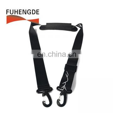 Universal Adjustable Bag Strap with Metal Swivel Hooks and Non-Slip Pad for Duffel Laptop Case Briefcase Diaper Bag