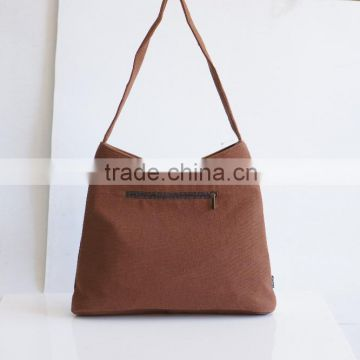 Customize strong canvas shoulder bag, waxed canvas tote bag , heavy duty canvas tote bag