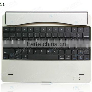bluetooth keyboard for iPad2/3/4,silver Ultra thin bluetooth keyboard case with magnetic slot