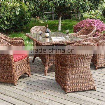 Synthetic rattan material New Design Luxury Dining Seating Garden Patio Resin Wicker & Rattan Outdoor Furniture