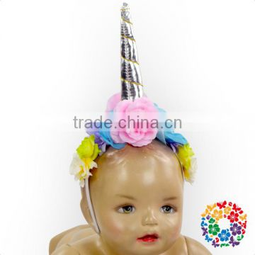 Hot Sale Popular Brithday Hats Flower Wreath Headband Hair Band Baby Headband Girls For Kids