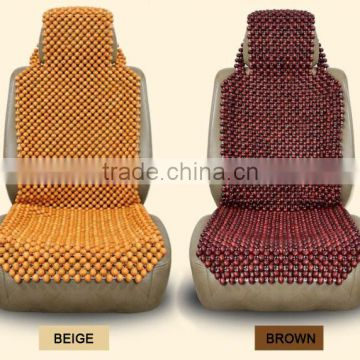 Eco friendly handmade wooden bead car seat cover