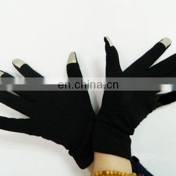 knitted silk touch screen hand gloves