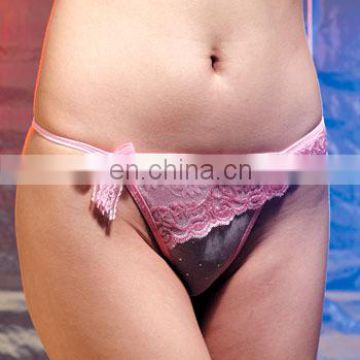 Ladies new fashion Sexy Lingeriein G-strings pink color lace