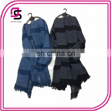 2017 fashion prevalent joker stripe voile purity tassels shawls long scarves for ladys