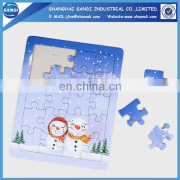 Cheap promotional cardboard for jigsaw puzzle
