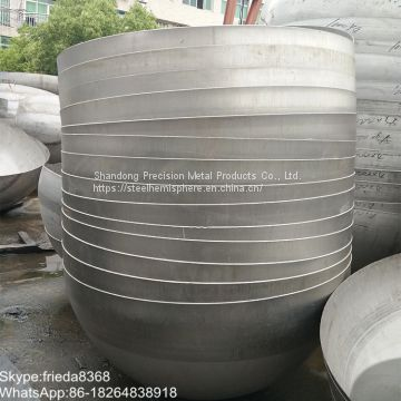 Customized Stainless Steel Hemispherical head High Quality hemispheres dished head