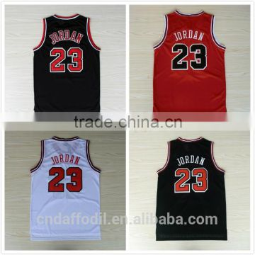 Michael Jordan basketball Jersey uniform design color red Michael Jordan 23 Name and Number Stitched basketball jersey