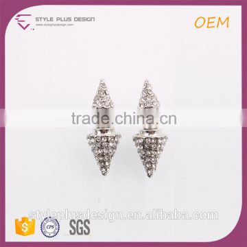 E74859K02 Latest Fashion Cheap Wholesale Stud Thread Triangle Earrings