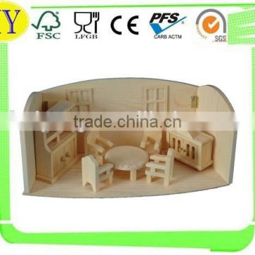2015 china supplier wholesale natural wooden toy house